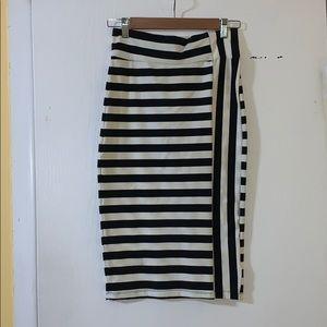 Bebe midi knit skirt